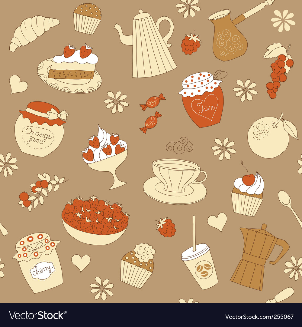 Dessert pattern vector | Price: 1 Credit (USD $1)