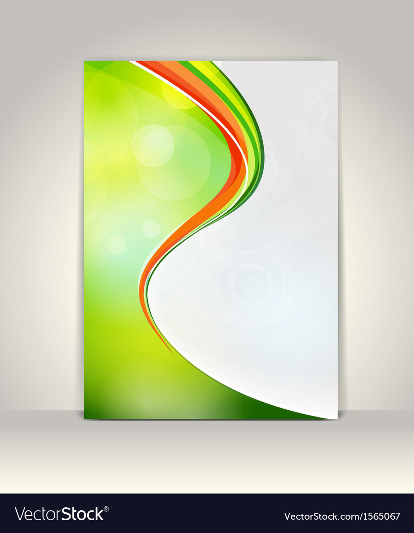 Flyer or brochure template abstract colorful desig vector | Price: 1 Credit (USD $1)
