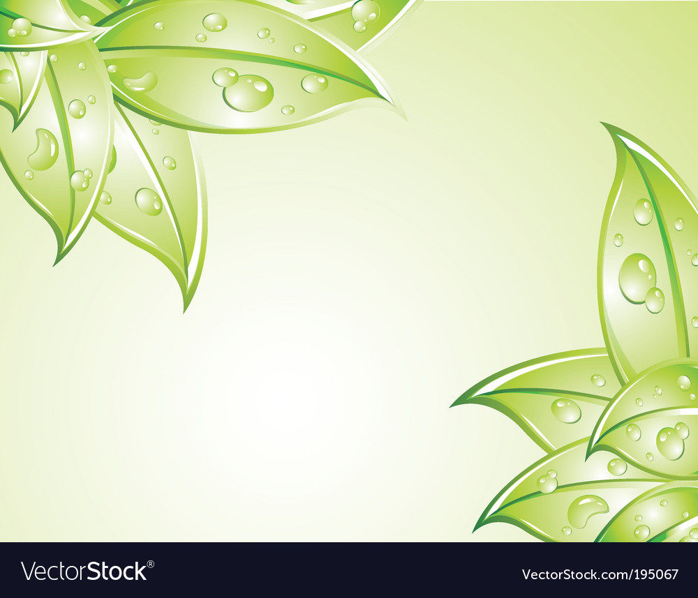 Green leaves background vector | Price: 3 Credit (USD $3)