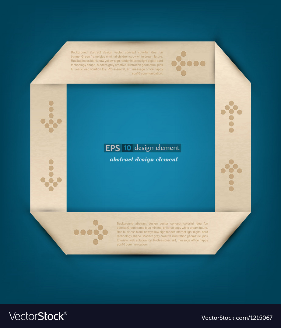 Origami the element of design to business vector | Price: 1 Credit (USD $1)