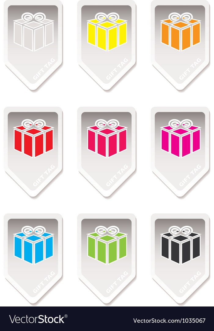 Paper tag gift present vector | Price: 1 Credit (USD $1)