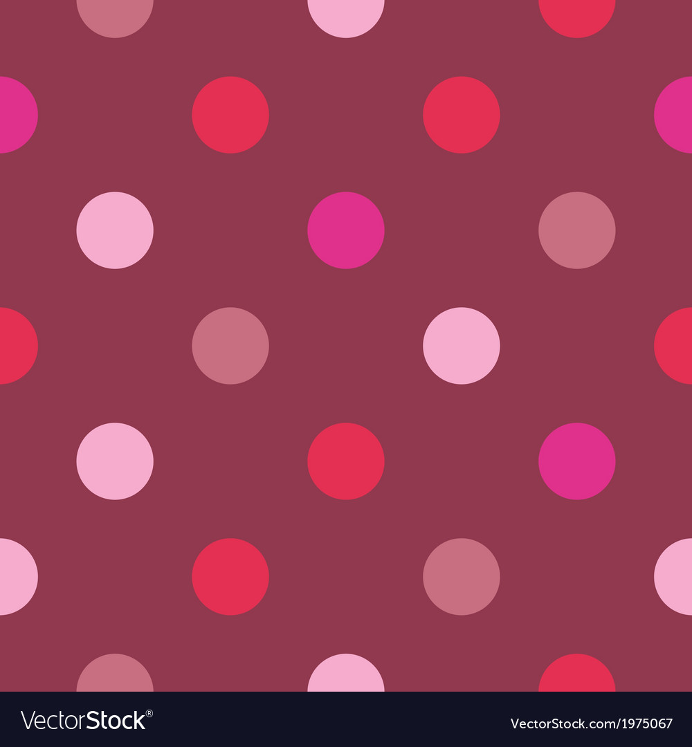 Seamless red pattern or polka dots background vector   Price: 1 Credit (USD $1)