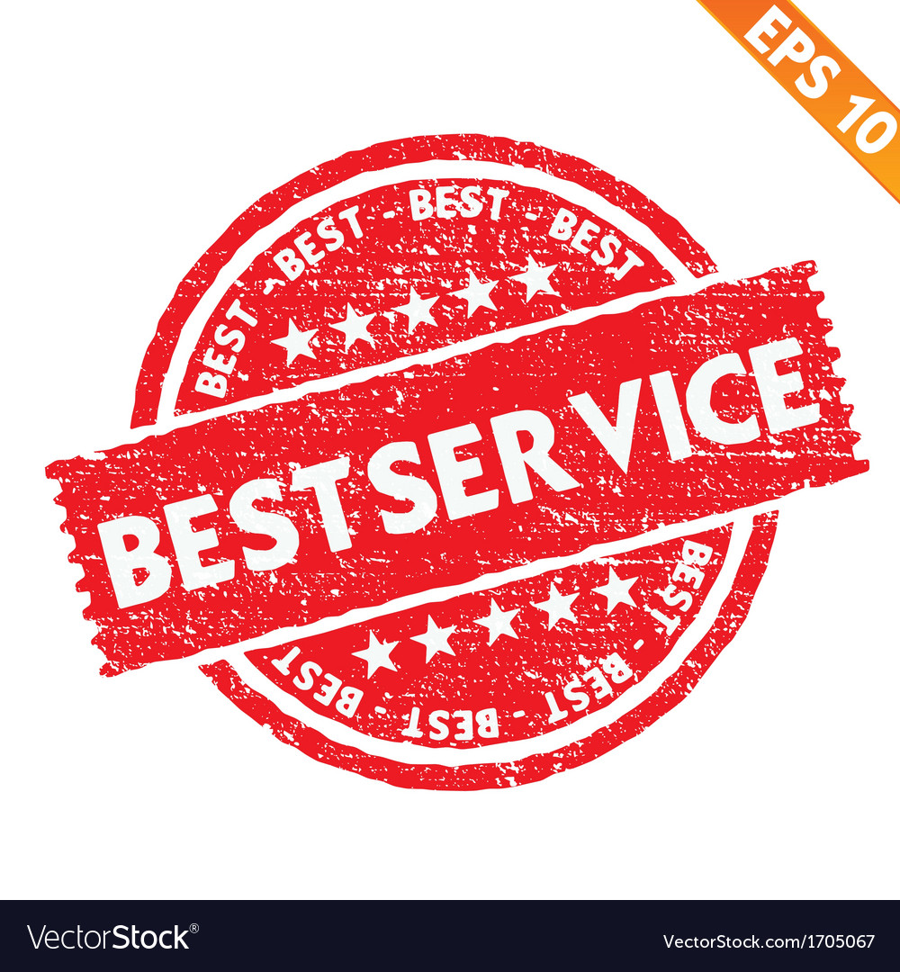 Stamp sticker best service collection - - e vector | Price: 1 Credit (USD $1)