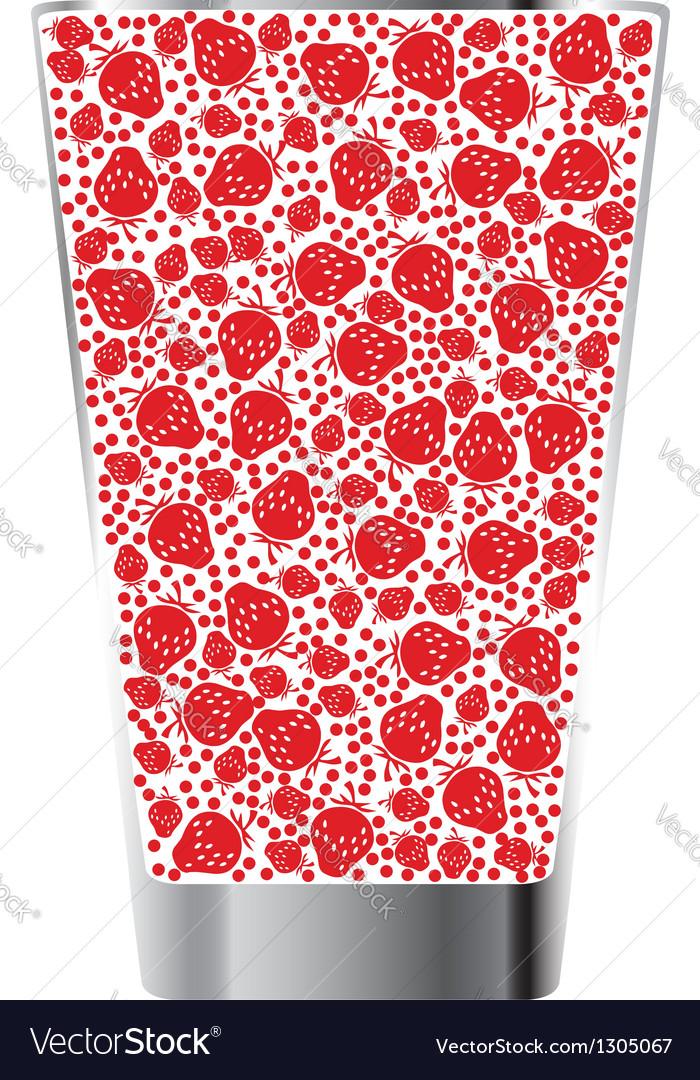 Strawberry juice vector | Price: 1 Credit (USD $1)