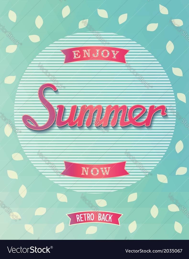 Summer poster design vector | Price: 1 Credit (USD $1)