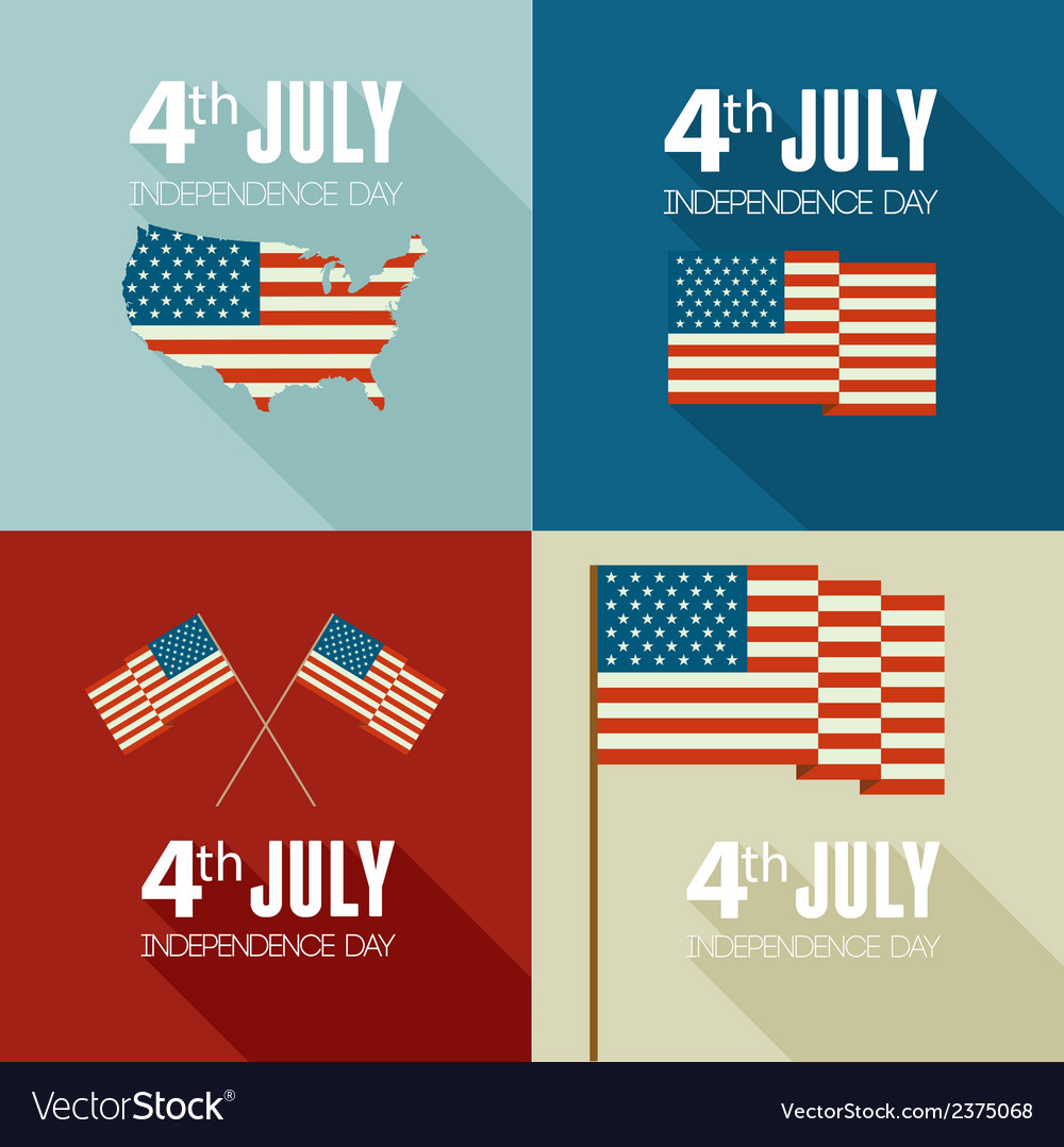 American independence day flat design vector | Price: 1 Credit (USD $1)