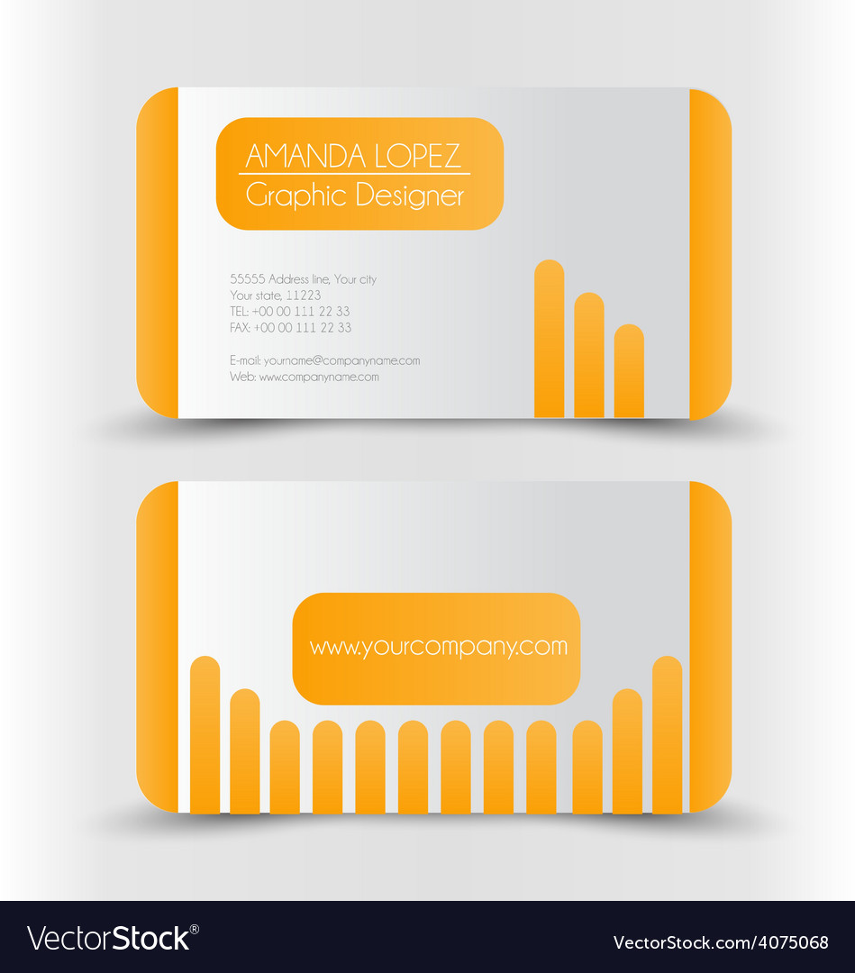 Business card design set template vector | Price: 1 Credit (USD $1)
