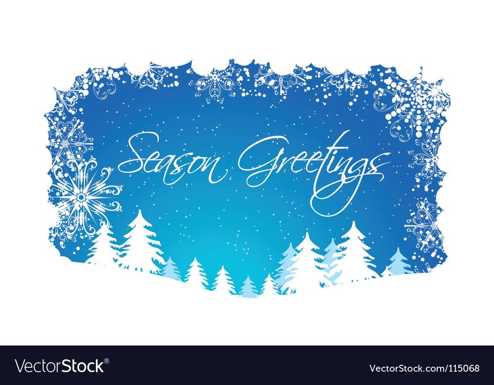 Christmas winter scene vector | Price: 1 Credit (USD $1)