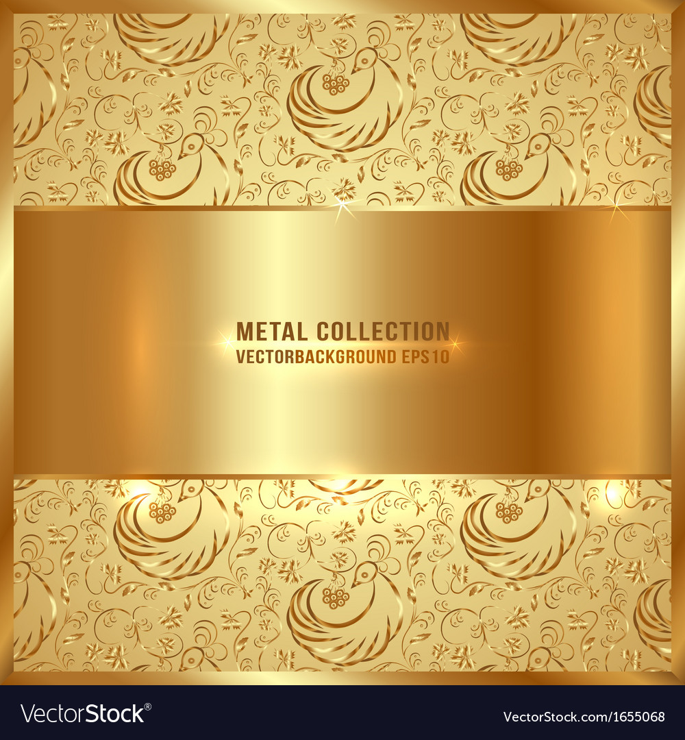 Golden metal plate vector | Price: 1 Credit (USD $1)