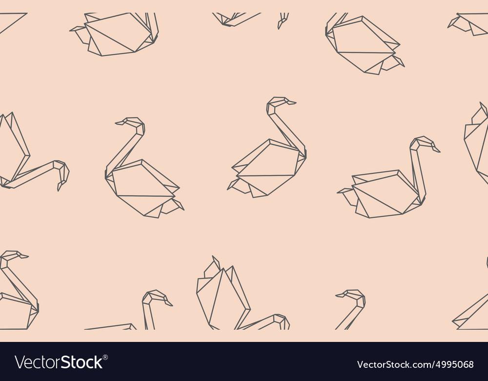 Japanese birds origami ornament vector