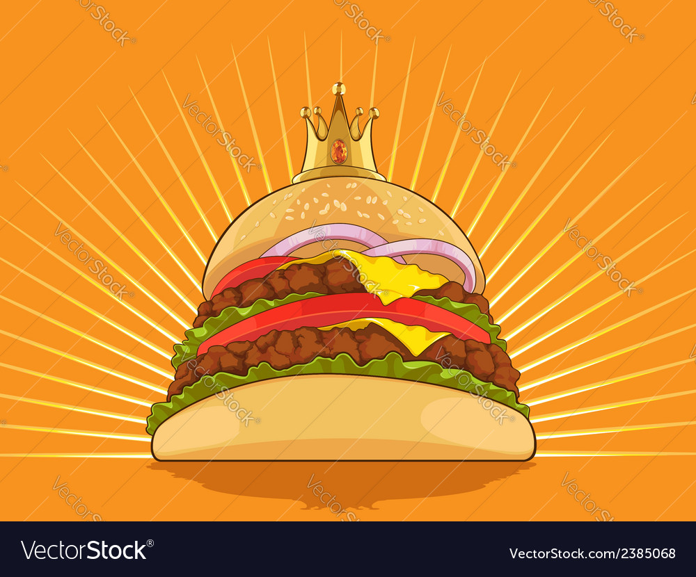King burger vector | Price: 1 Credit (USD $1)