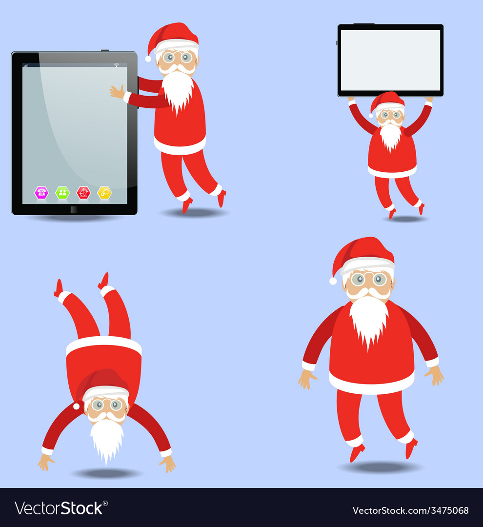Merry christmas with santa claus vector | Price: 1 Credit (USD $1)