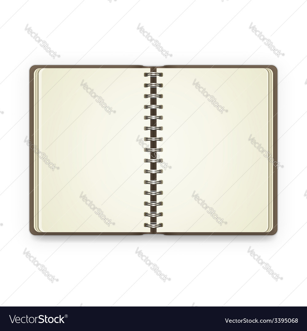 Open notebook with blank pages vector | Price: 1 Credit (USD $1)