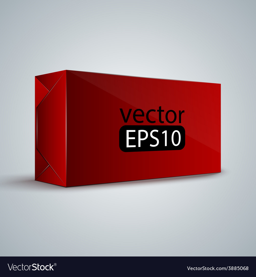 Red wrap box package vector | Price: 1 Credit (USD $1)