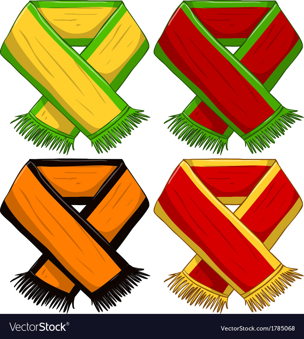 Sports team scarf pack vector | Price: 1 Credit (USD $1)