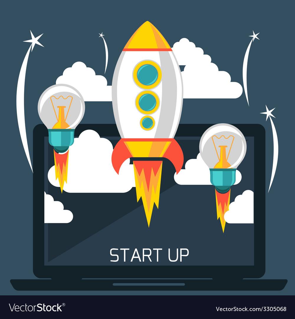 Start up rocket vector | Price: 1 Credit (USD $1)