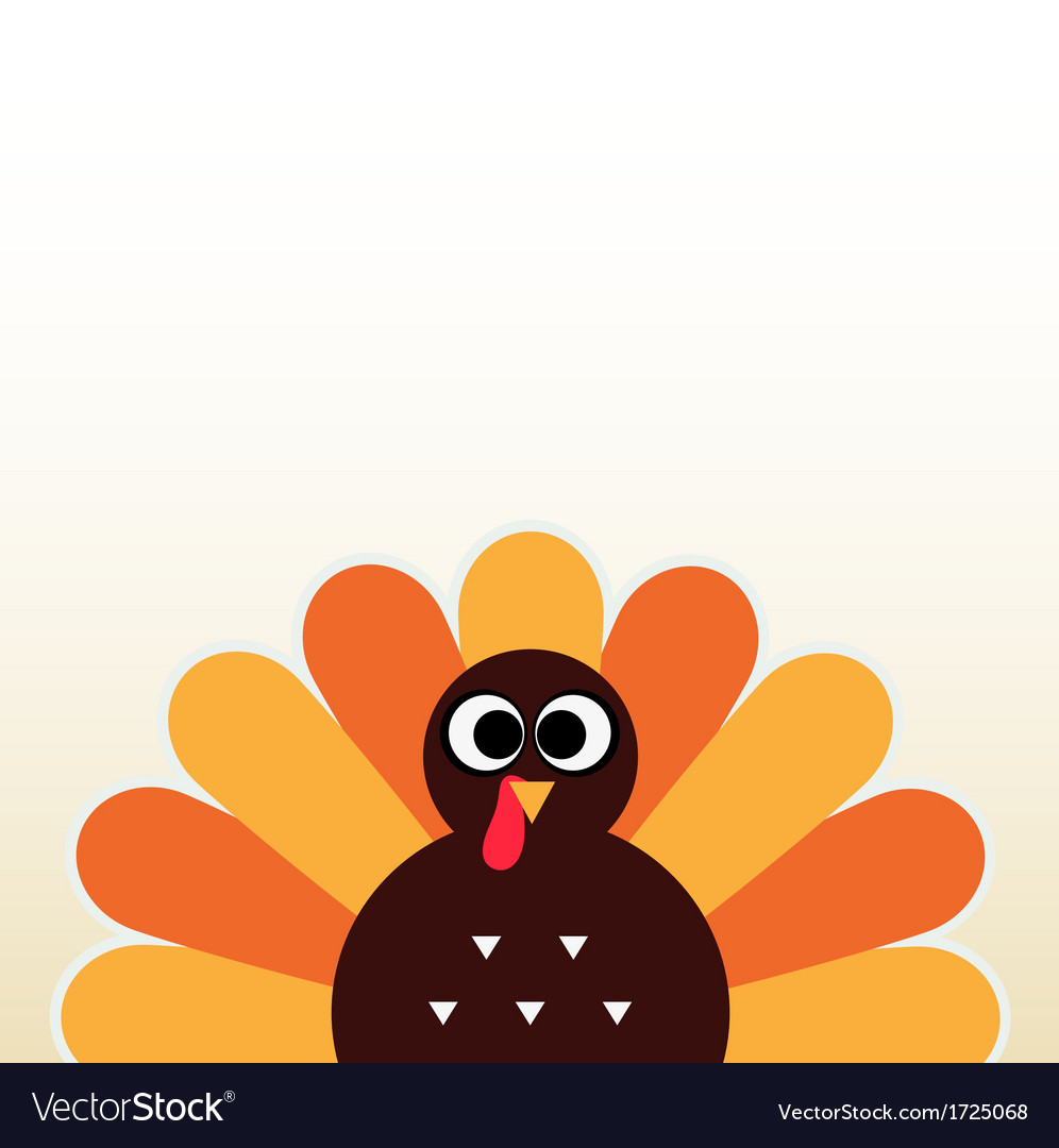 Thanksgiving colorful turkey greeting vector | Price: 1 Credit (USD $1)