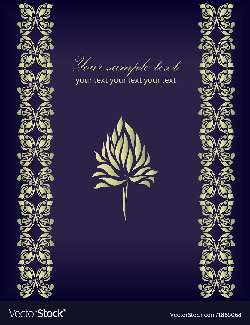 Vintage flower on background vector | Price: 1 Credit (USD $1)