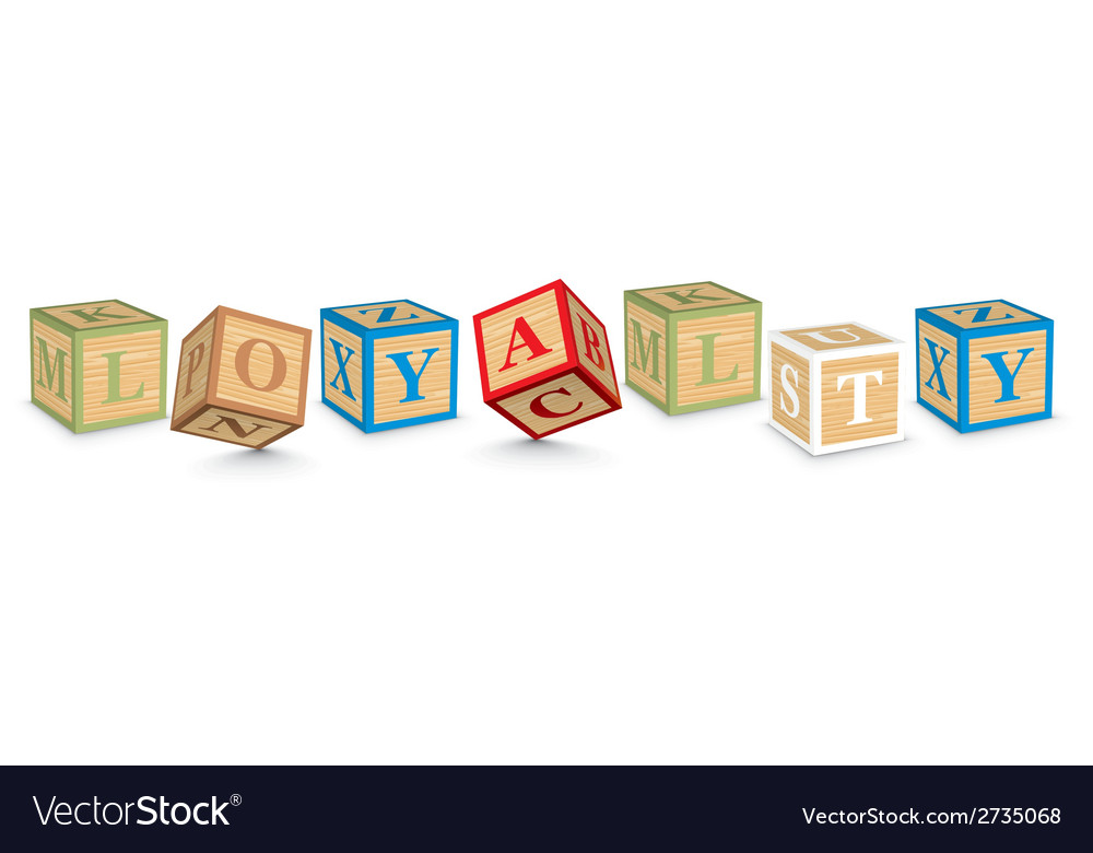 Word loyalty written with alphabet blocks vector | Price: 1 Credit (USD $1)