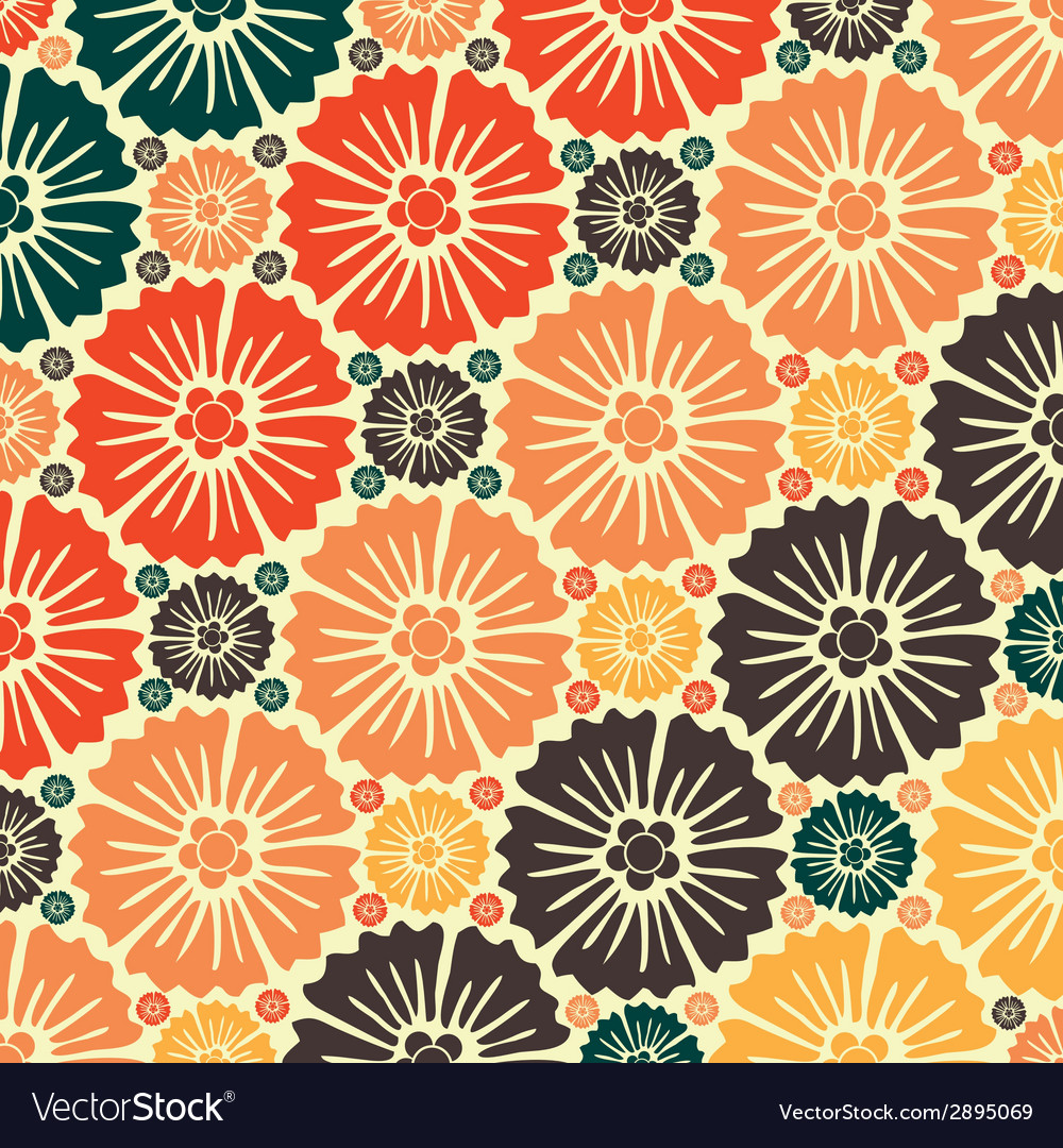 Abstract seamless pattern - art nouveau vector