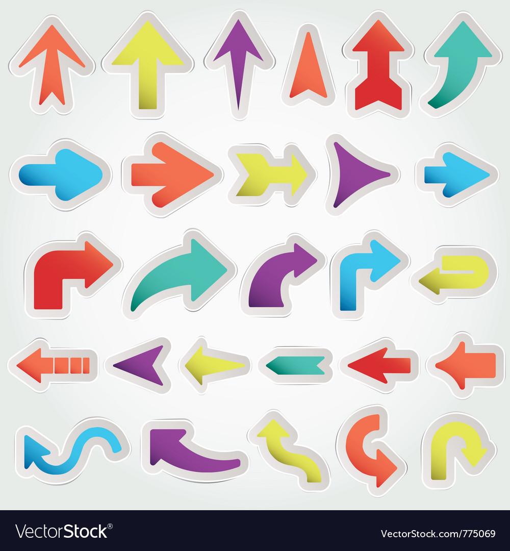 Arrows set vector | Price: 1 Credit (USD $1)
