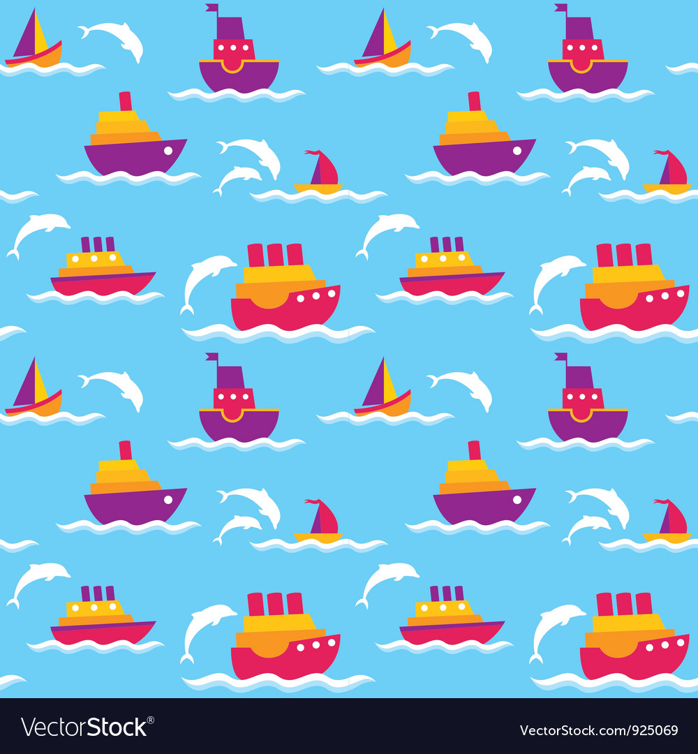 Background with boats vector | Price: 1 Credit (USD $1)