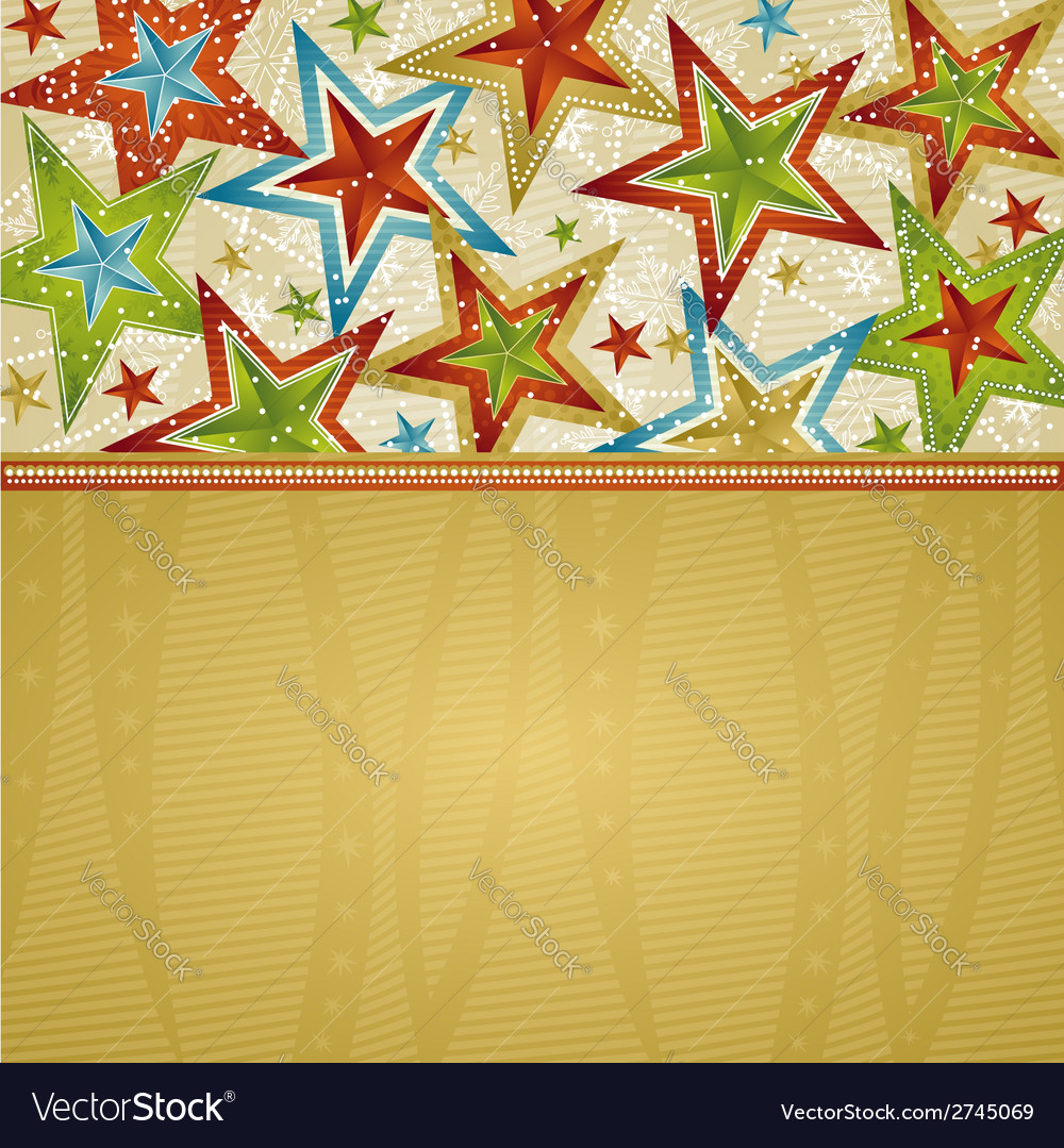 Christmas background with stars vector | Price: 1 Credit (USD $1)