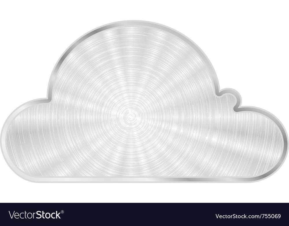 Cloud metal icon vector | Price: 1 Credit (USD $1)