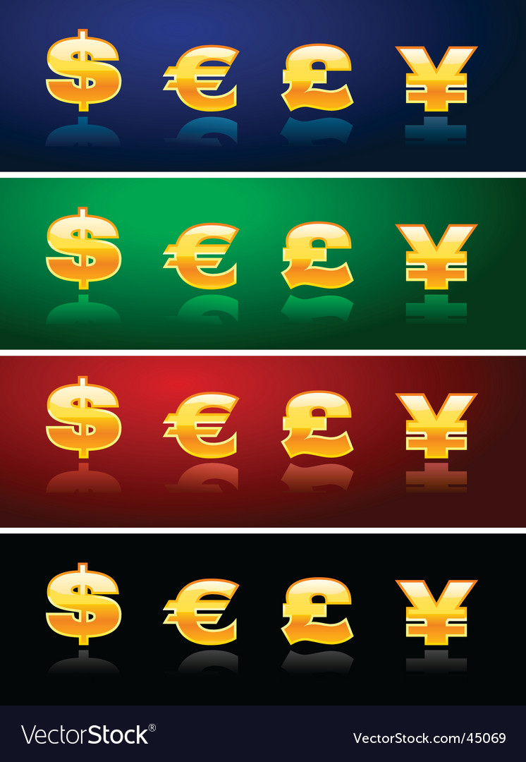 Currency icons vector | Price: 1 Credit (USD $1)