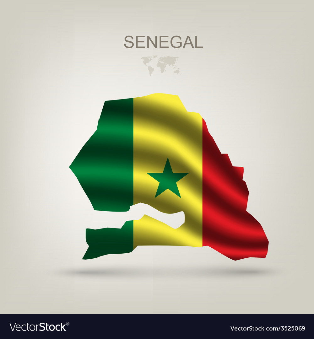 Flag of senegal as the country vector | Price: 1 Credit (USD $1)