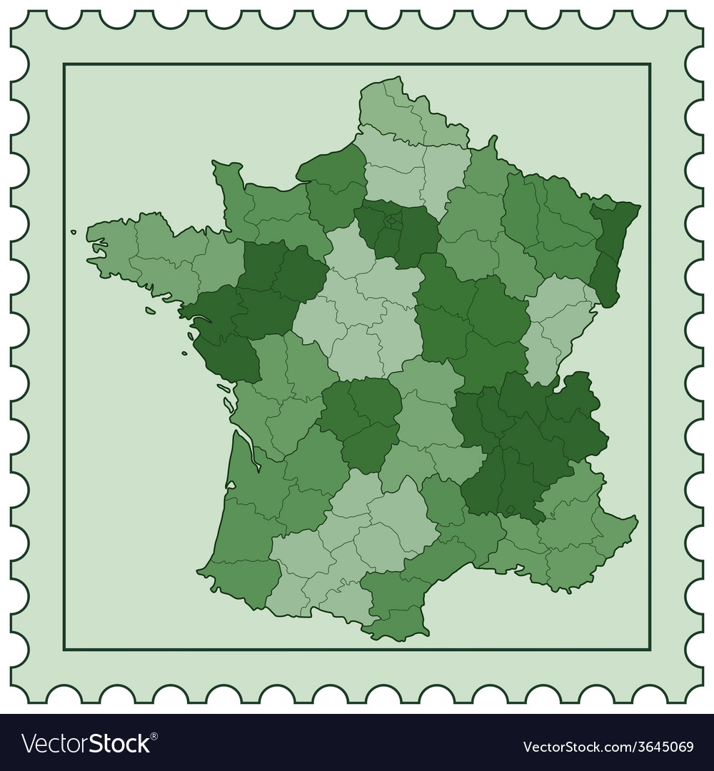 France on stamp vector | Price: 1 Credit (USD $1)