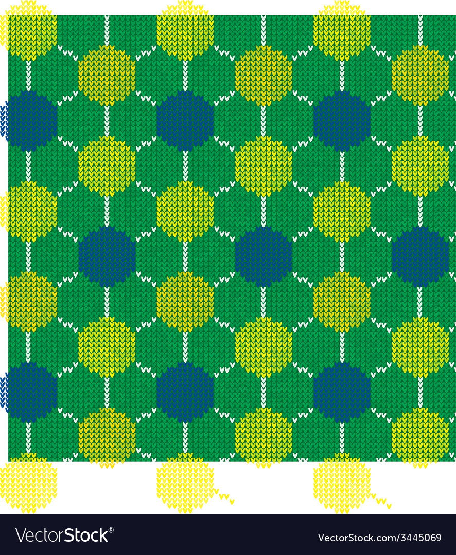 Knitted soccer fan scarf brazil 2014 vector | Price: 1 Credit (USD $1)