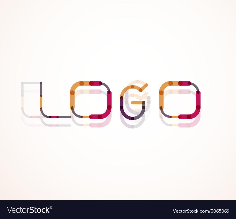 Logo word font design vector | Price: 1 Credit (USD $1)