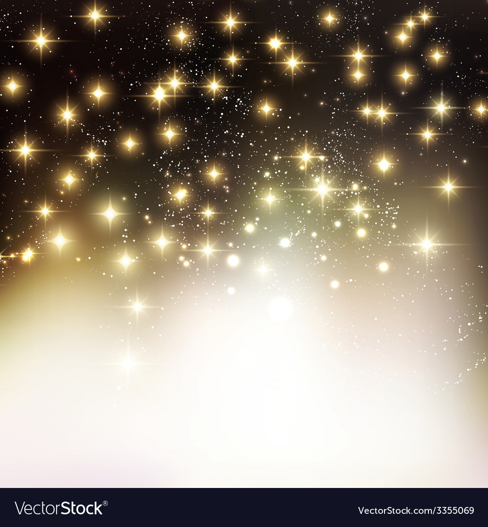 Merry christmas holiday background with shiny star vector | Price: 1 Credit (USD $1)