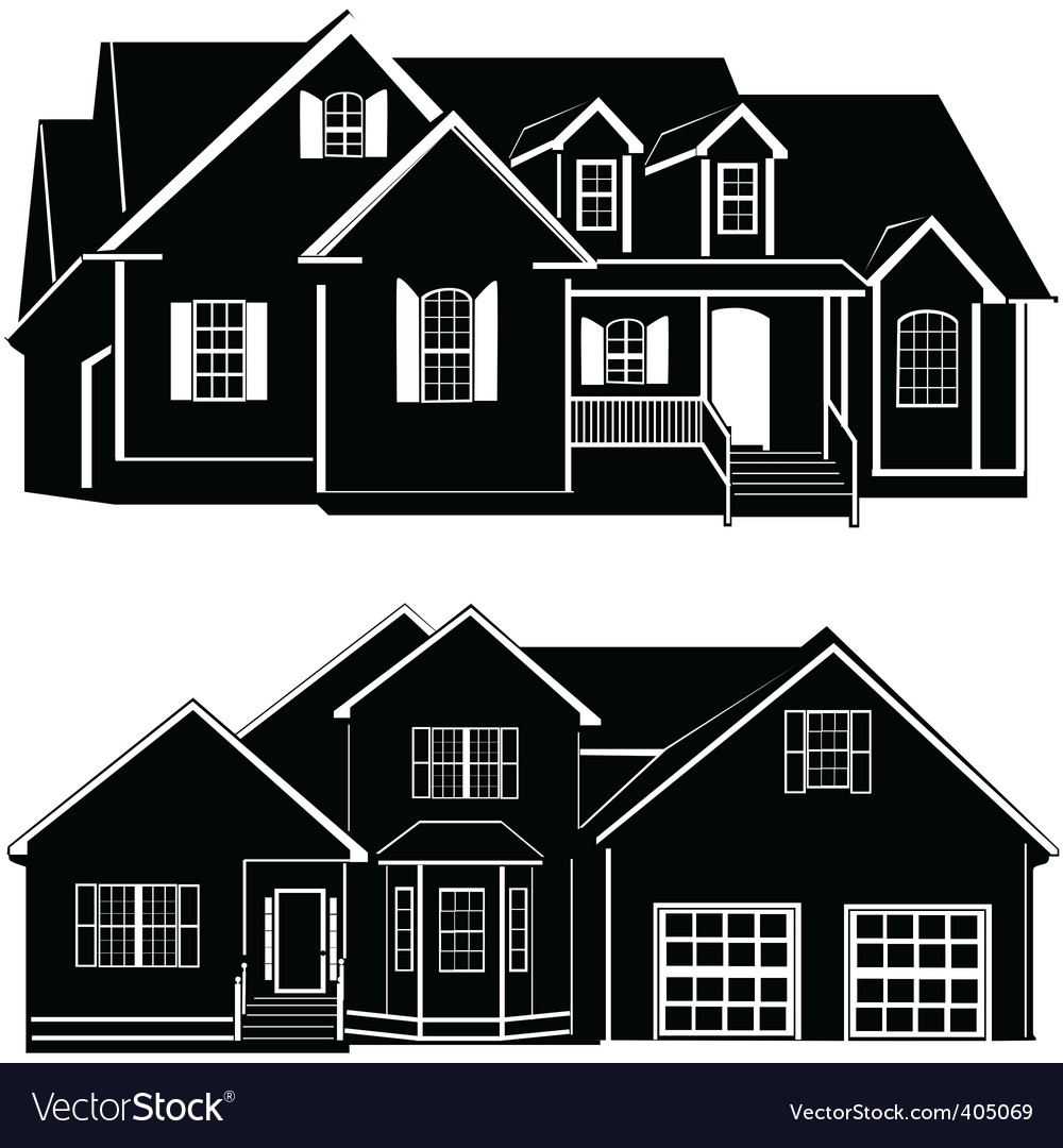 Residences building vector | Price: 1 Credit (USD $1)