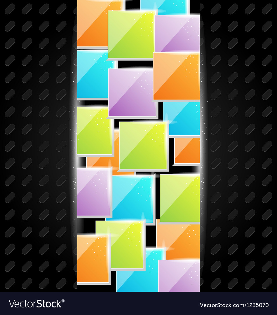 Abstract metal background with colorful squares vector | Price: 1 Credit (USD $1)