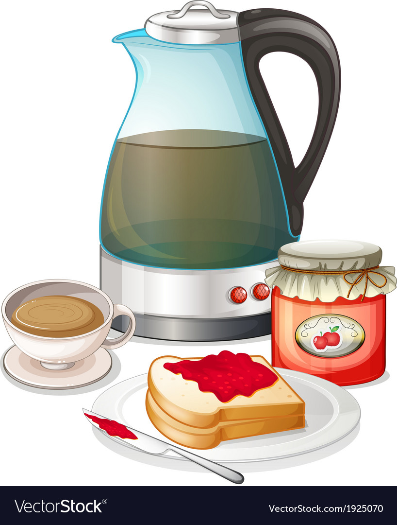 Apple jam and a pitcher of juice vector | Price: 3 Credit (USD $3)