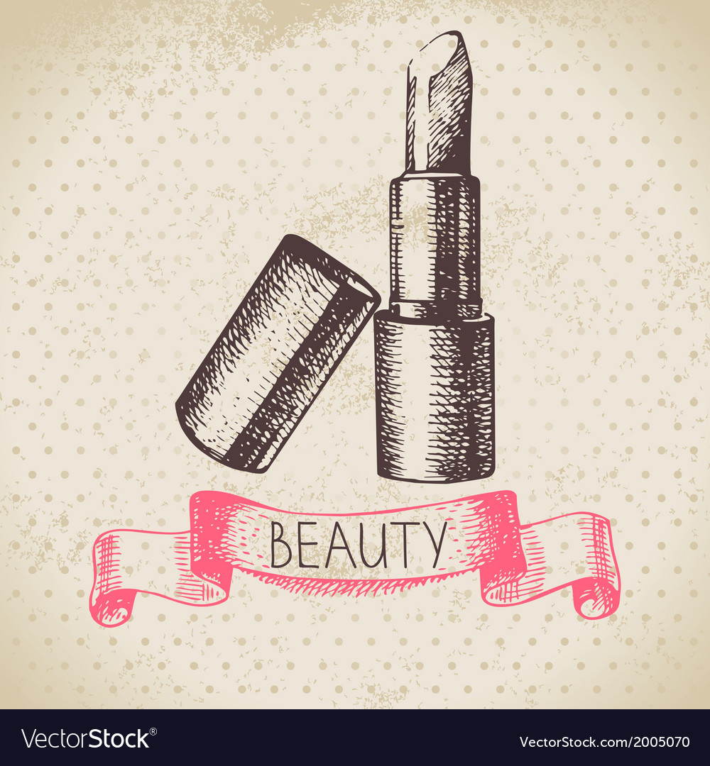 Beauty sketch background vector | Price: 1 Credit (USD $1)