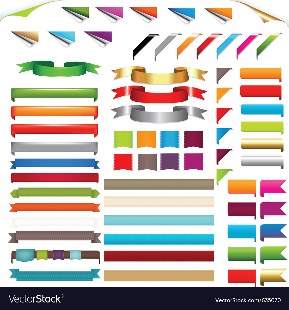 Corners and ribbons vector | Price: 3 Credit (USD $3)