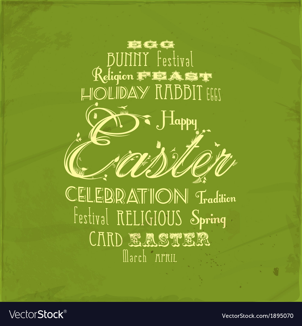 Easter distressed background on green vector | Price: 1 Credit (USD $1)