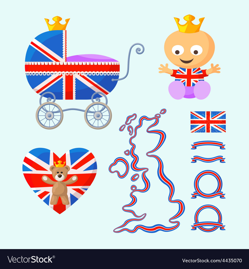 English royal baby set vector | Price: 1 Credit (USD $1)