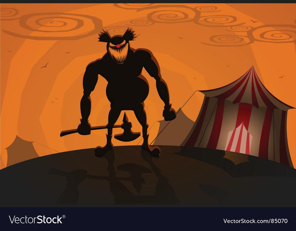 Evil clown vector | Price: 1 Credit (USD $1)