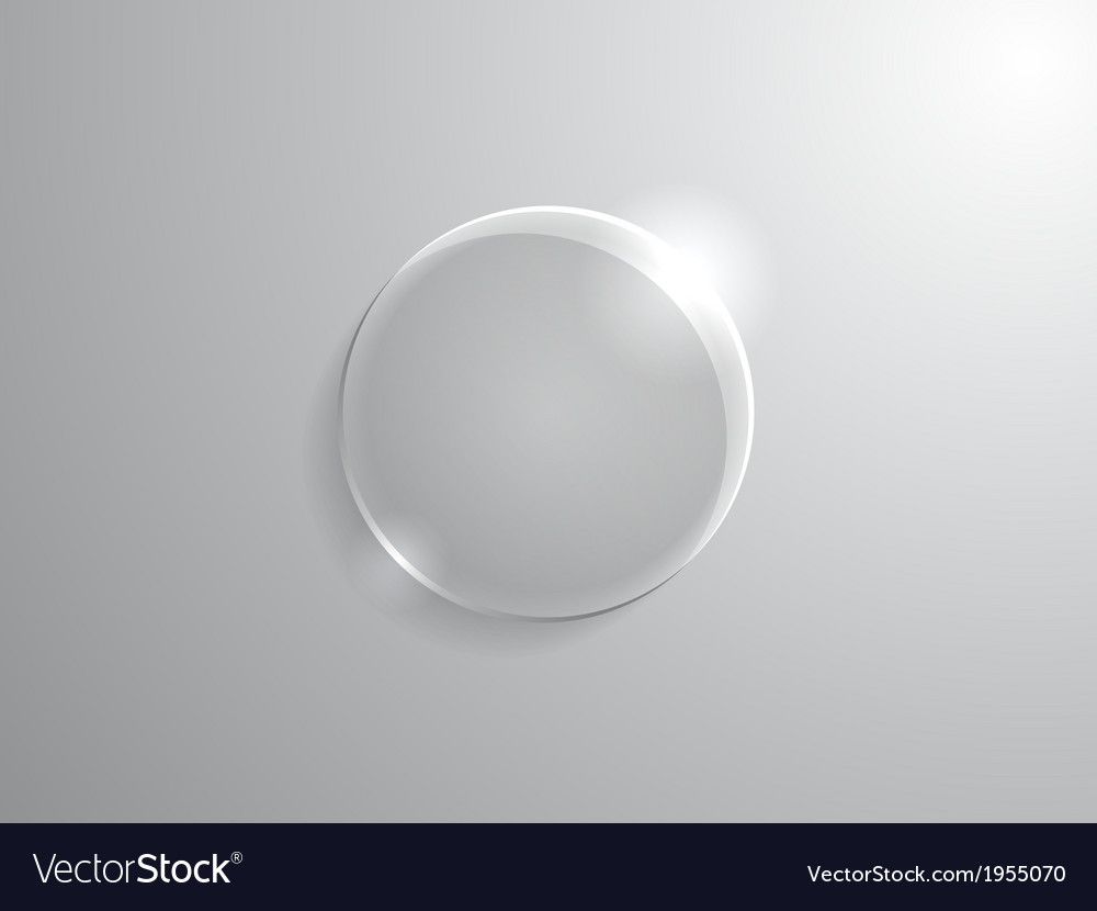 Glass circle vector | Price: 1 Credit (USD $1)