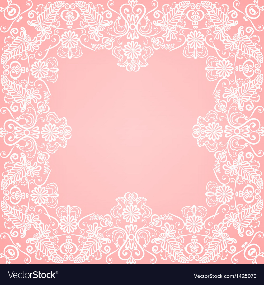 Lace floral frame vector | Price: 1 Credit (USD $1)