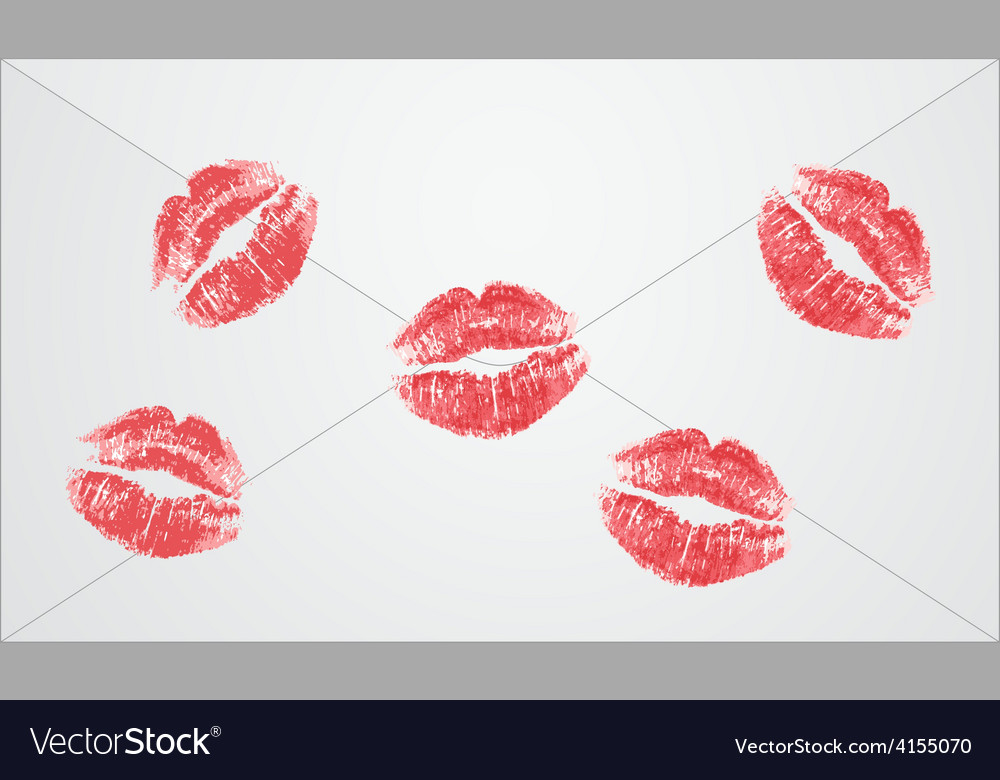 Letter kisses vector | Price: 1 Credit (USD $1)