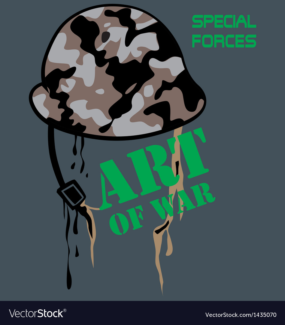 Military helmet vector | Price: 1 Credit (USD $1)