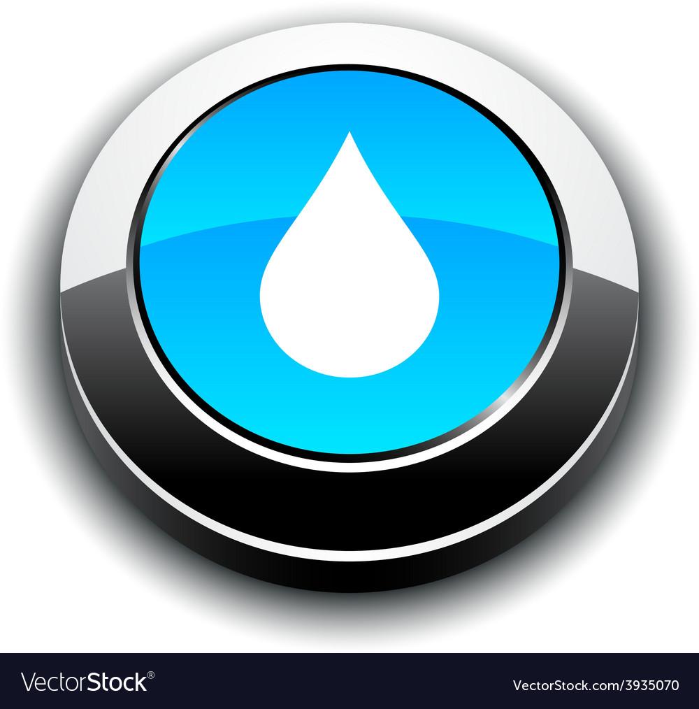 Rain 3d round button vector   Price: 1 Credit (USD $1)