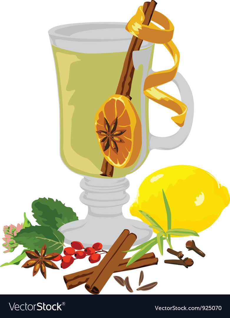 Still life tea and spices vector | Price: 1 Credit (USD $1)