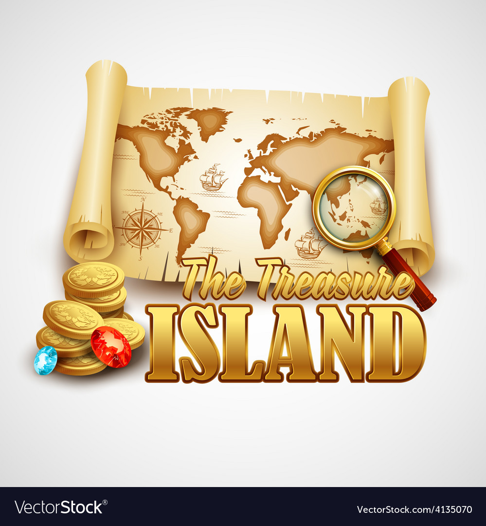 Treasure island template vector | Price: 3 Credit (USD $3)