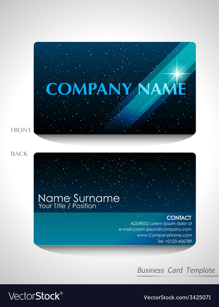 A blue business card design vector | Price: 1 Credit (USD $1)